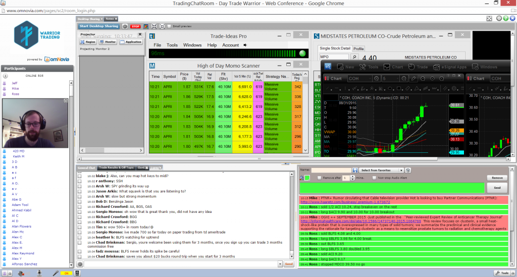 day trading chat room