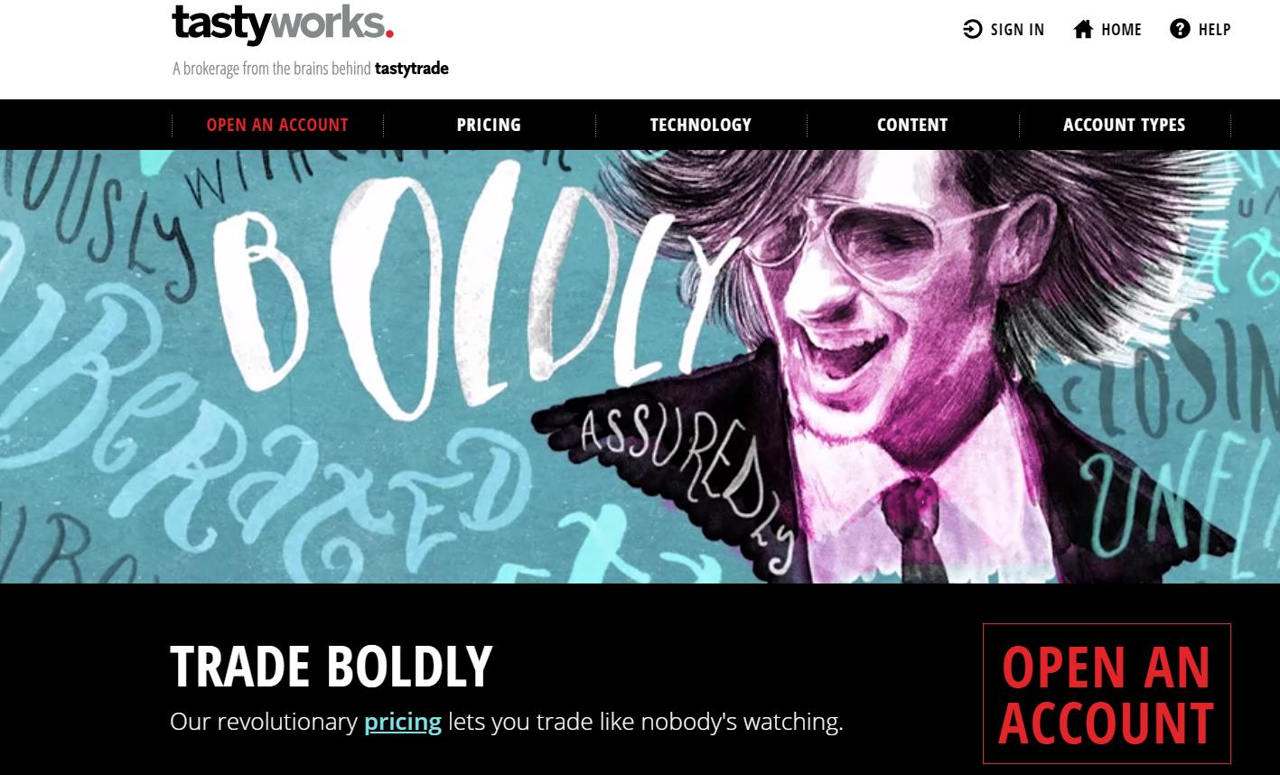 tastyworks homepage