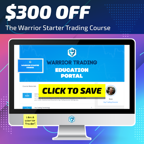 Warrior Starter $300 OFF