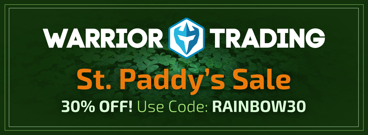 Warrior Trading St. Paddy's Sale 30% OFF